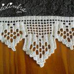 Conjunto de toalhas de banho castanho, com barras de crochet