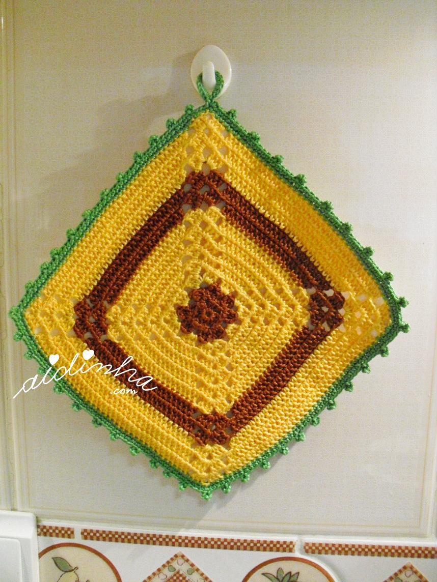 Pega ou agarrador em crochet