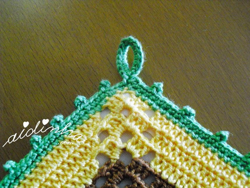 Foto da azelha para pendurar a pega de crochet