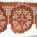 Toalhas de banho creme com crochet aplicado