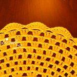 Conjunto de individuais de crochet na cor amarelo