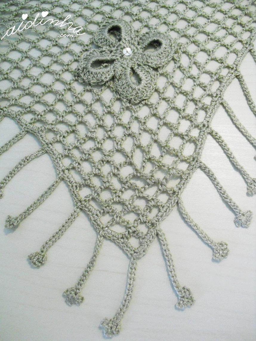 Foto do bico do xaile de crochet