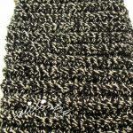 Bolsa em crochet, para óculos em preto e prata