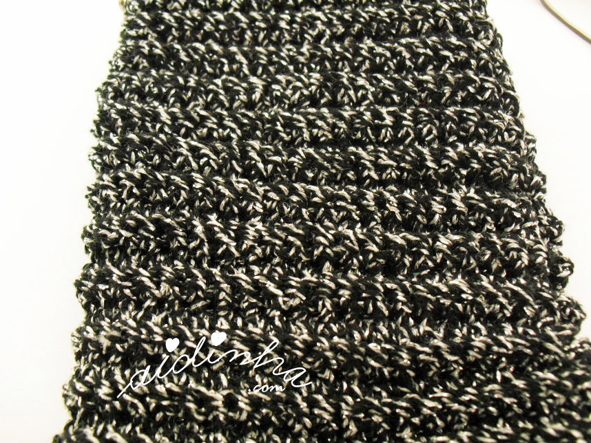 Imagem do ponto de crochet da bolsa para óculos