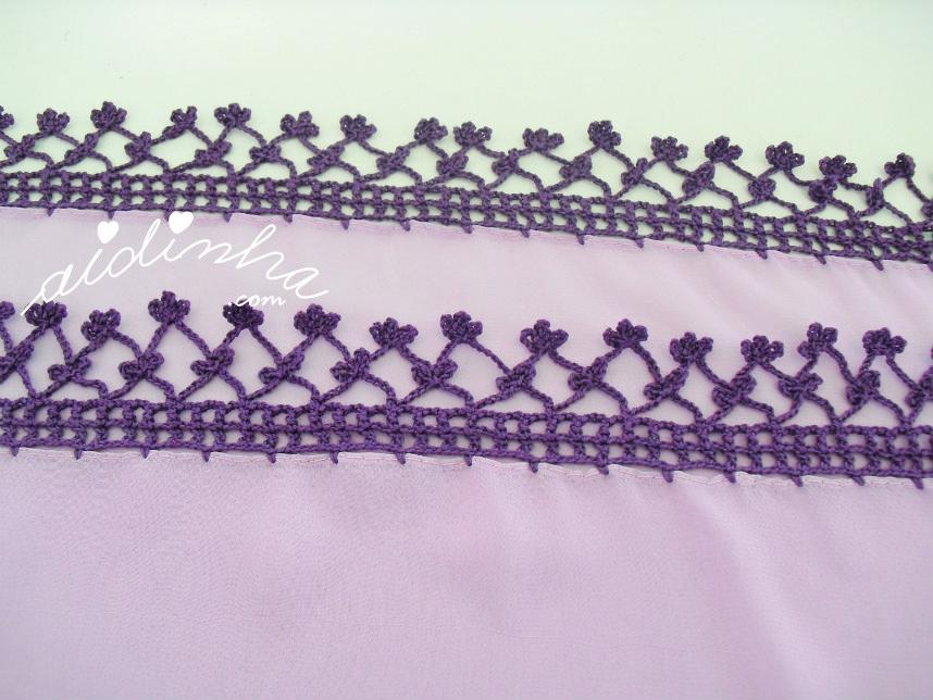 Foto do picô de crochet com florinhas