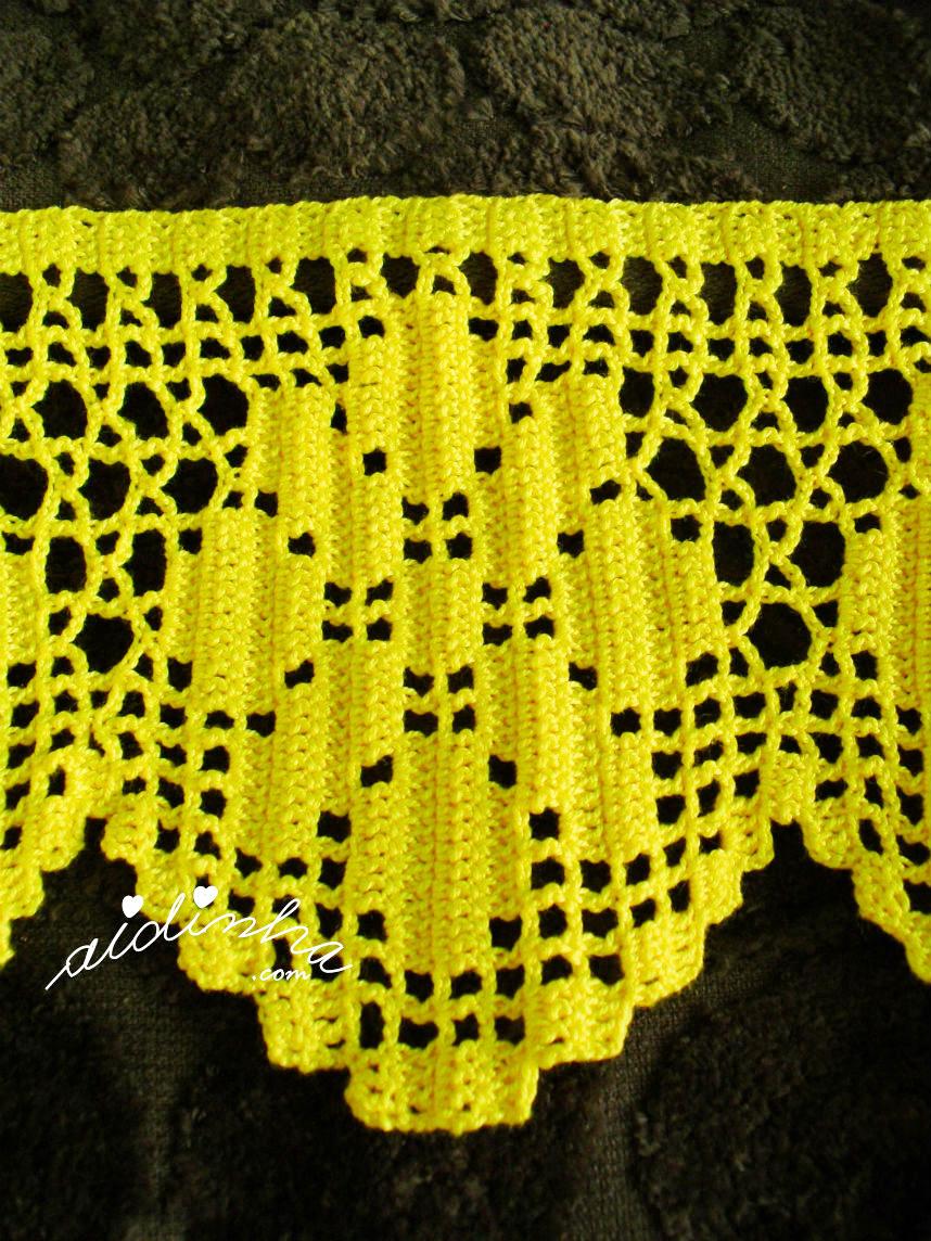 Foto da flor da barra de crochet amarela