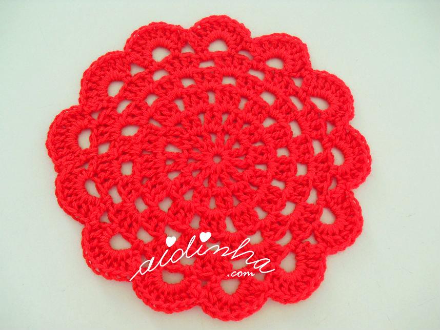 Porta-copo do conjunto de crochet