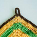 Pegas ou agarradores, coloridos, em crochet