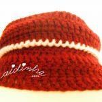 """Gola """"Graciosa"""" em crochet, nas cores bordeaux e rosa"""