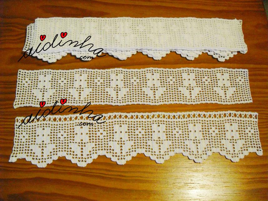 Barras para cortinas em crochet