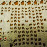 Barras para cortinas, em crochet