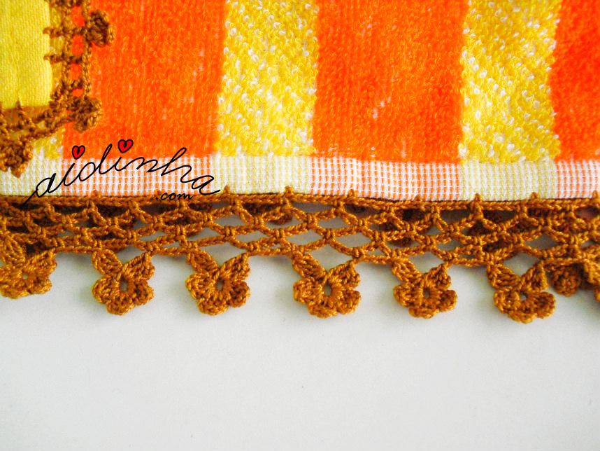 Picô de crochet do pano turco das mãos