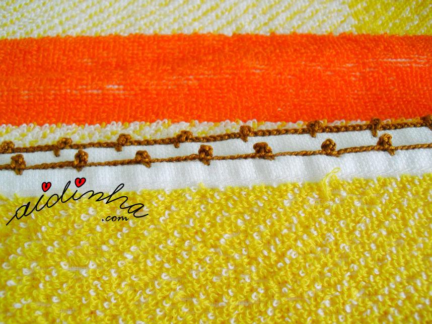 Picô de crochet de remate, do pano turco das mãos