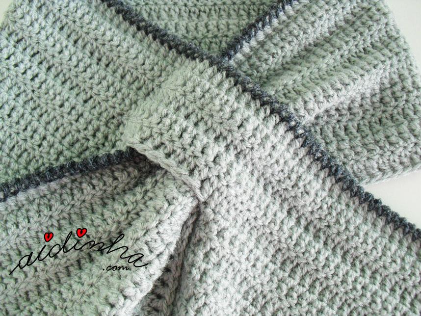 Foto do pormenor da passagem de crochet