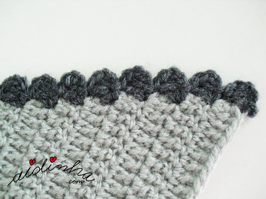 Foto do picô de crochet de remate