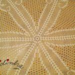 Toalha redonda, de crochet