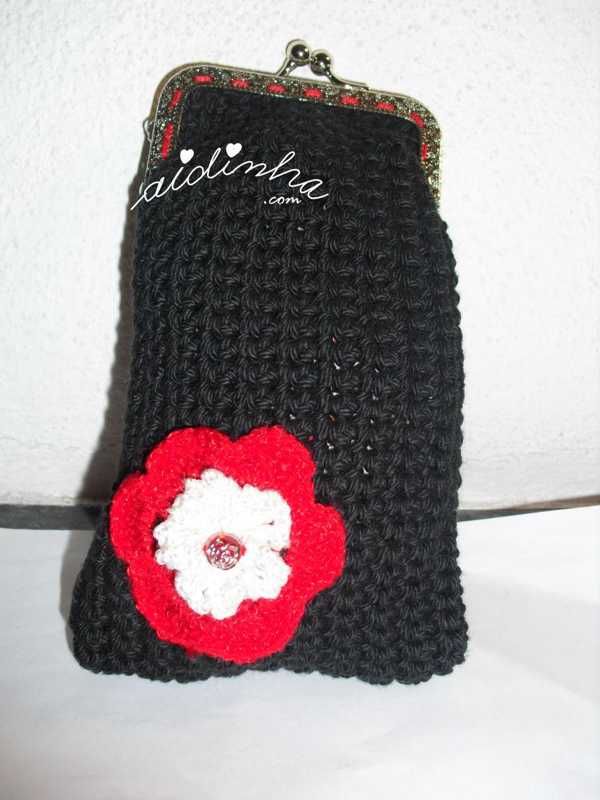 Bolsa de crochet preta