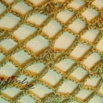 Estola de crochet, na cor bronze