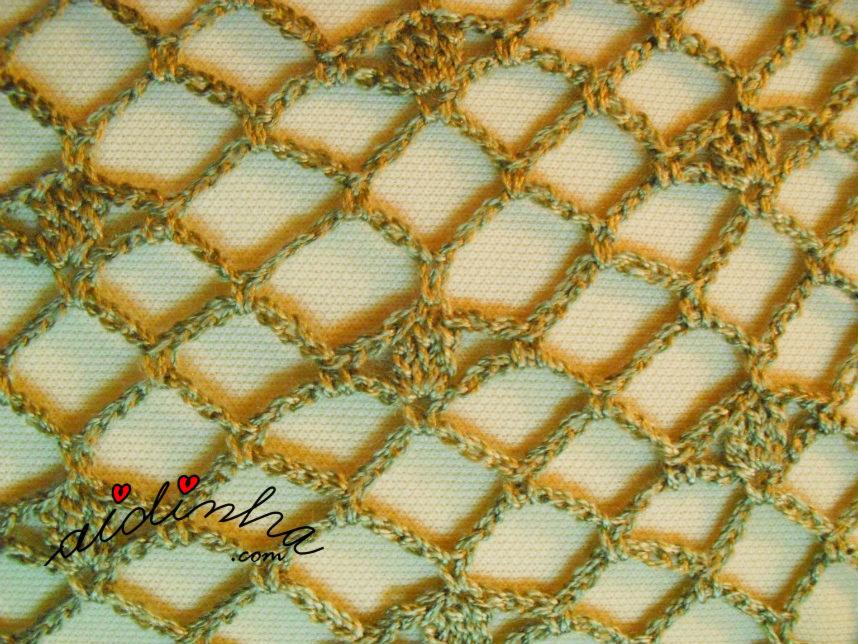 Pormenor do ponto de crochet da estola
