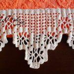 Conjunto de toalhas de banho com barras de crochet