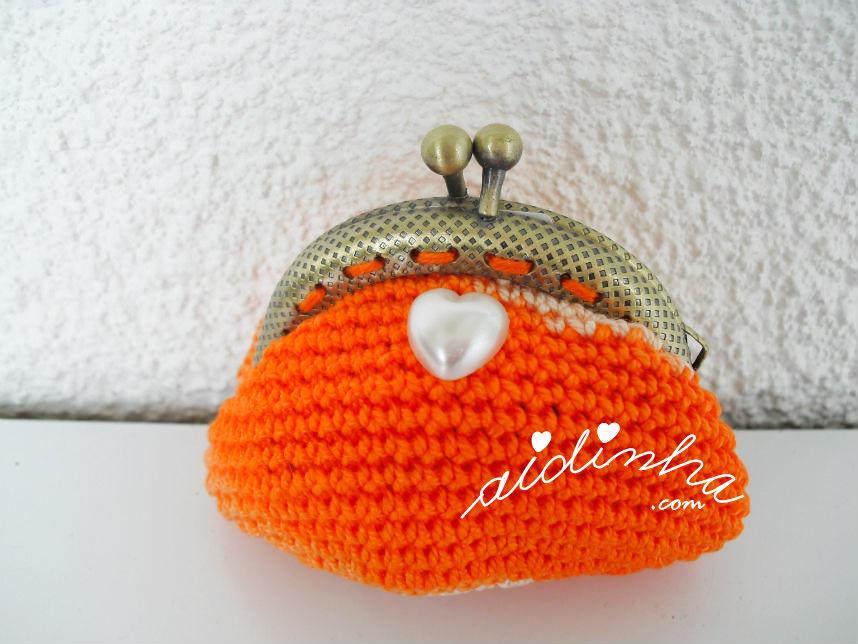 Bolsinha de crochet, laranja