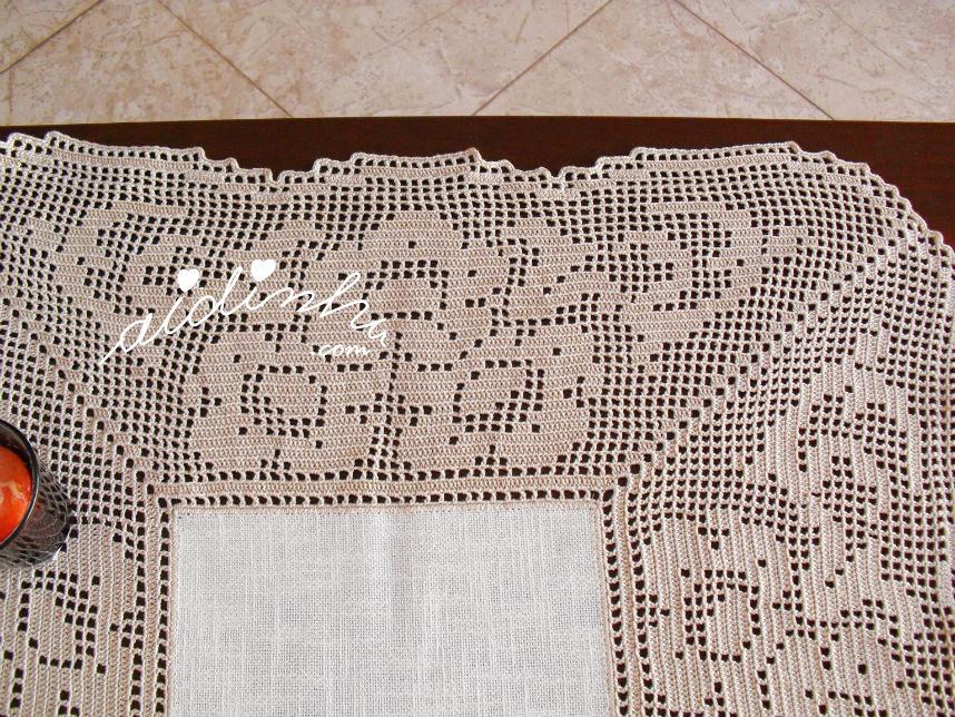 Motivo central deste centro de crochet
