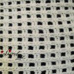 Gola de crochet, em lã, branca