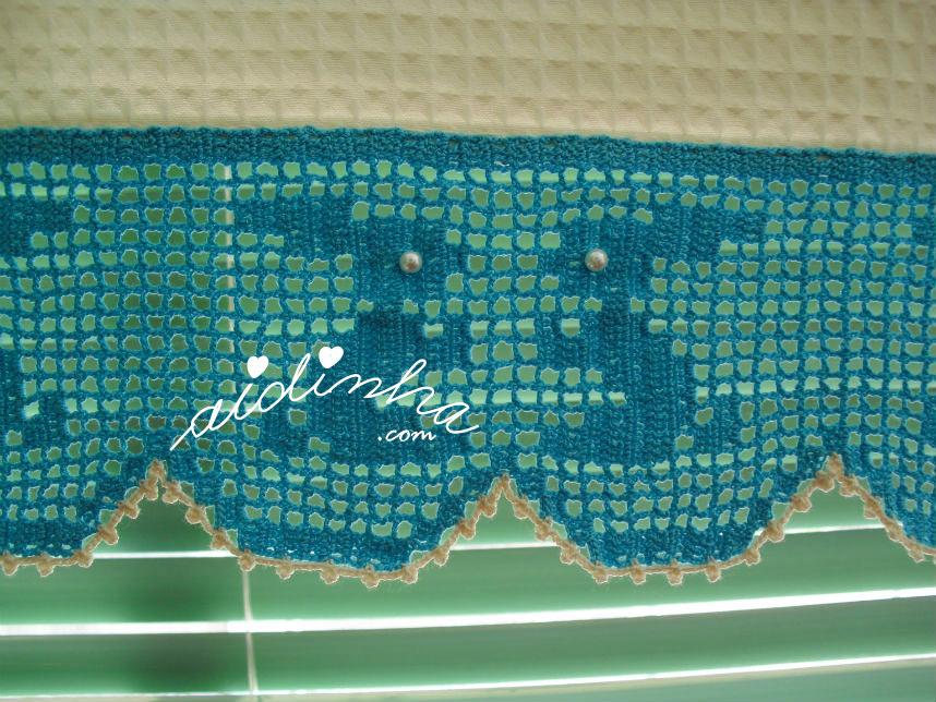 Barra de crochet do conjunto de panos de cozinha, com coelhinhos