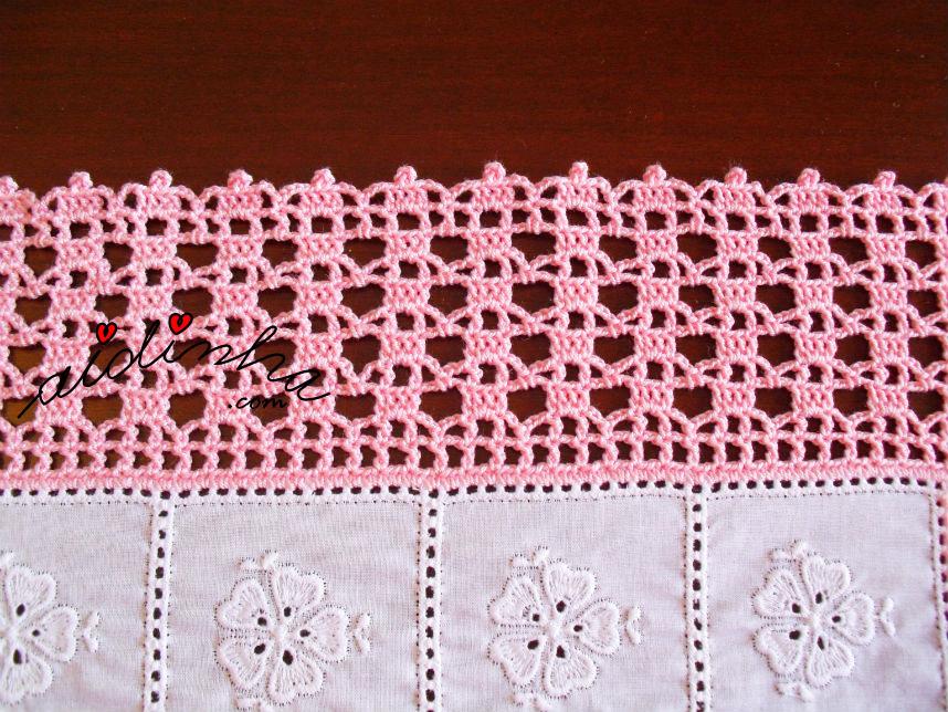 Foto do ponto de crochet dos naperons de quarto