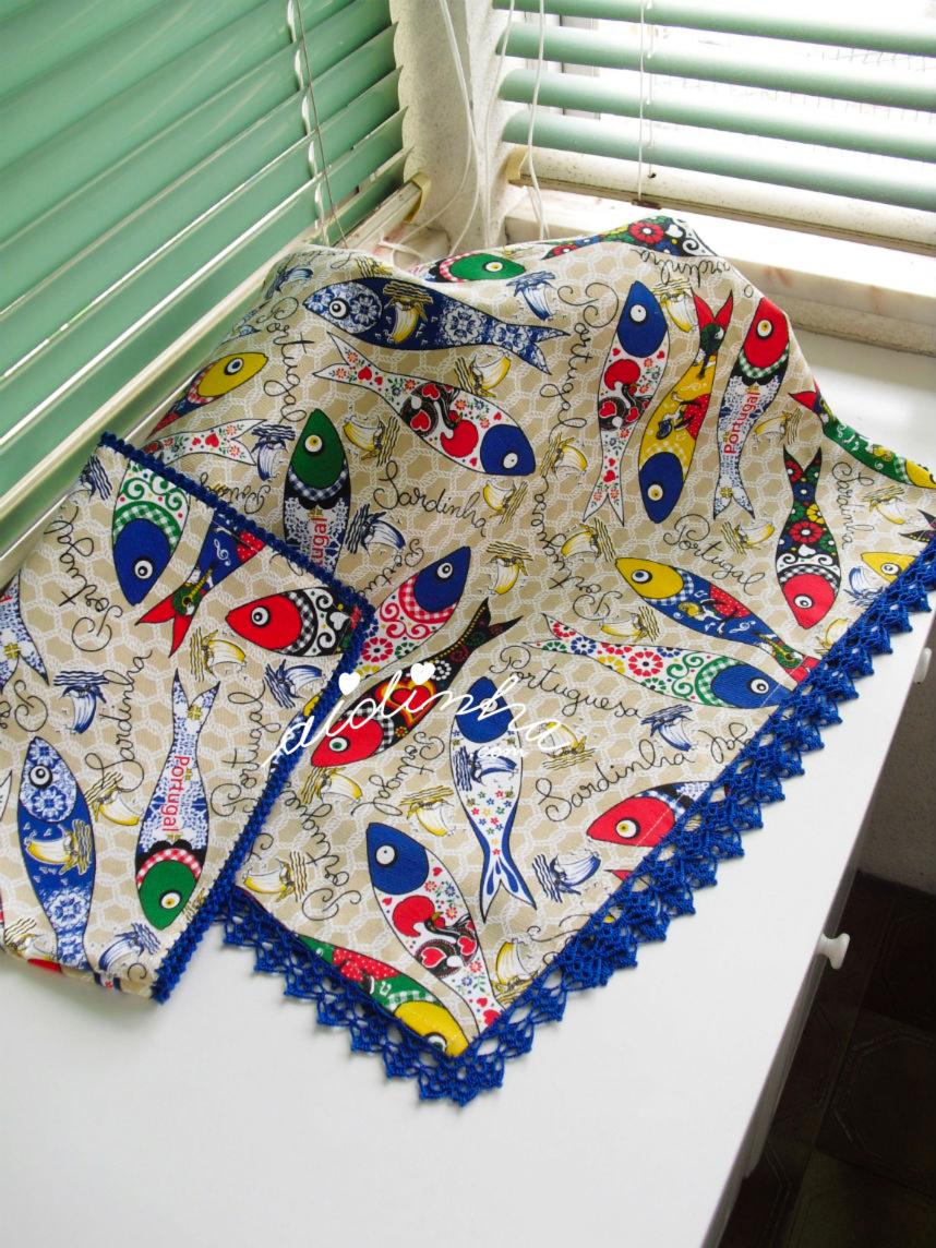 toalha de mesa com crochet