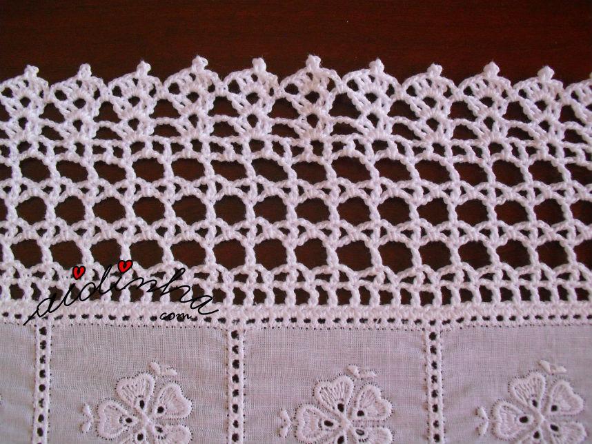POnto de crochet do centro com corações