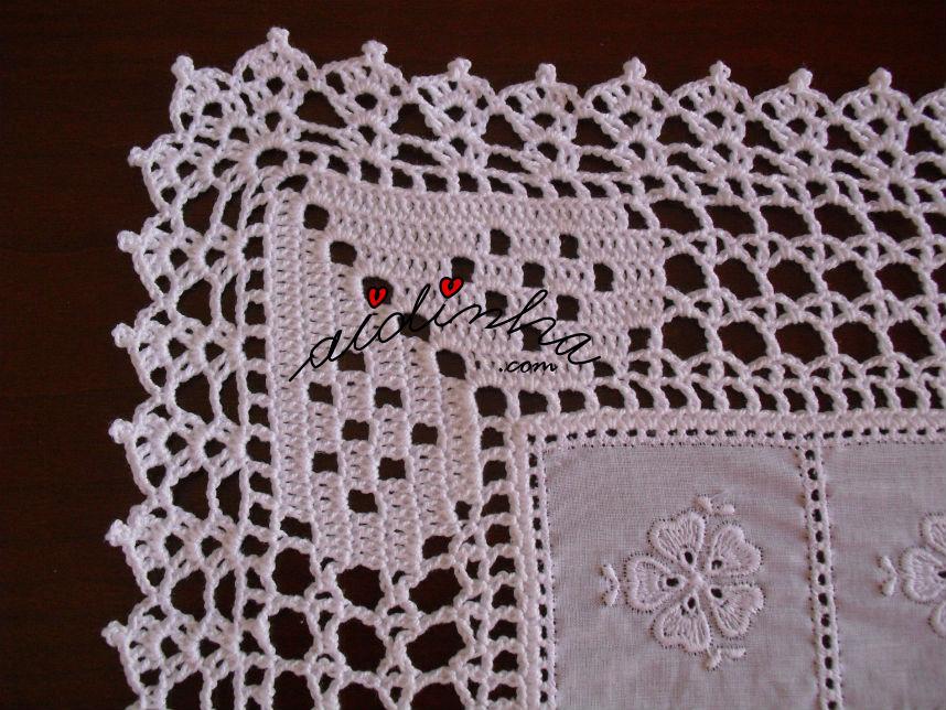 Canto do crochet do centro de crochet