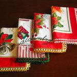 Panos de cozinha, de Natal, com crochet