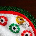 Pano turco de cozinha, com crochet em volta