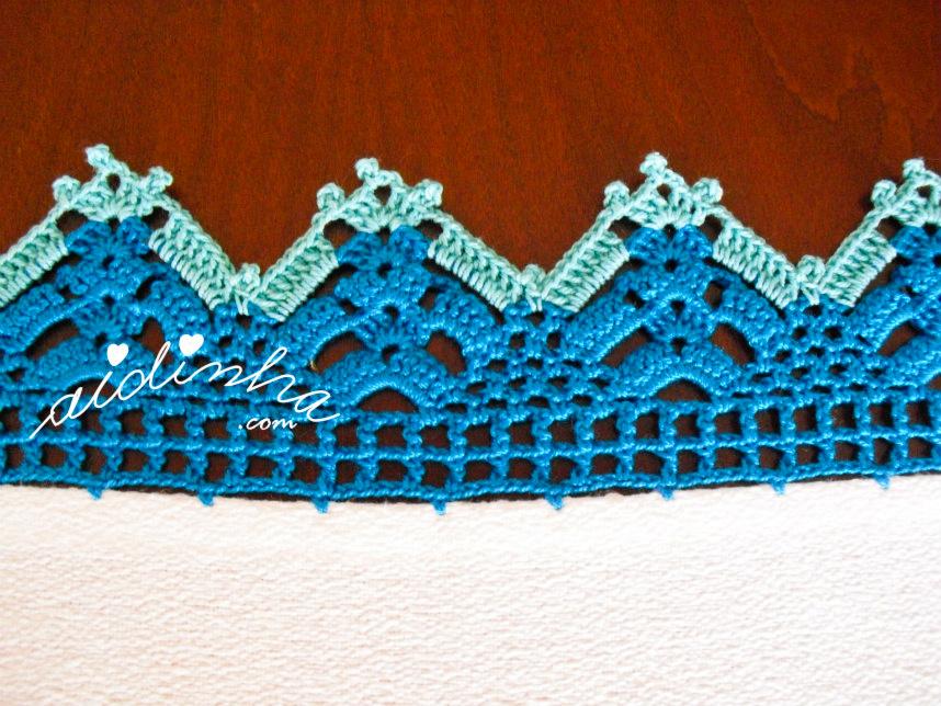 Foto do crochet do pano de cozinha bordado
