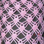 Capinha salmão, em crochet