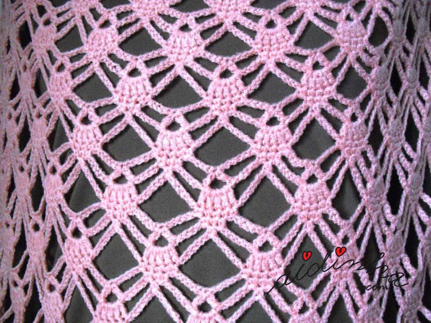 Ponto de crochet da capinha salmão de crochet
