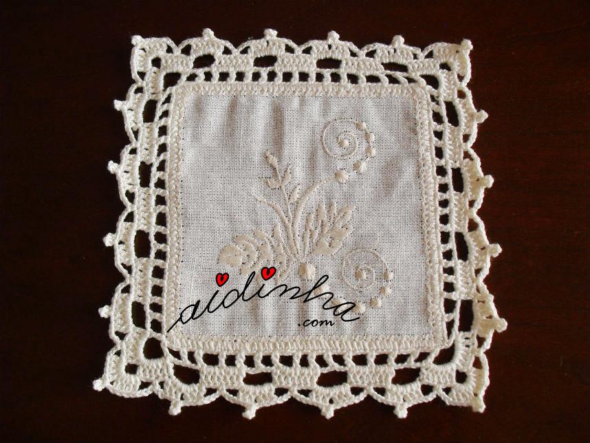 Porta-copos com crochet mais simples