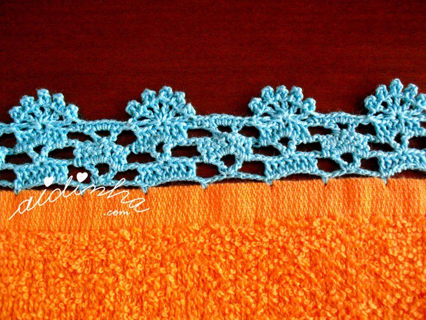 Pormenor do crochet do pano turco de cozinha laranja