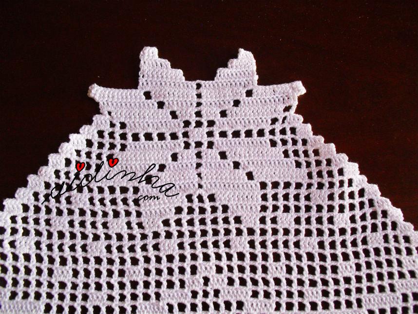 Estrela de Natal do centro em linho e crochet