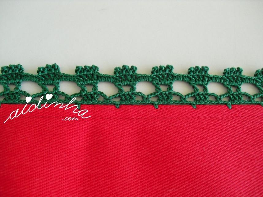 foto do crochet dos panos de cozinha