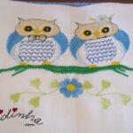 Caixas coloridas para guardanapos, com crochet