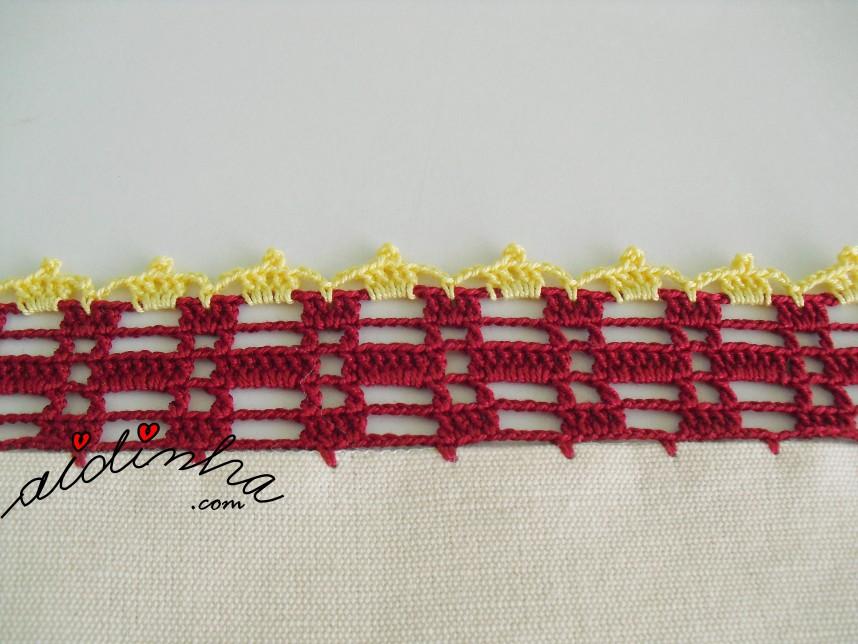 crochet do conjunto de cozinha, bordado