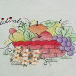 Conjunto de cozinha, bordado e com crochet