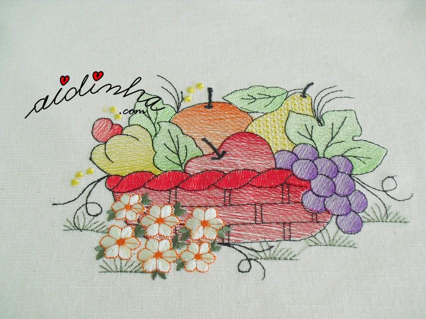 bordado do conjunto de cozinha com crochet
