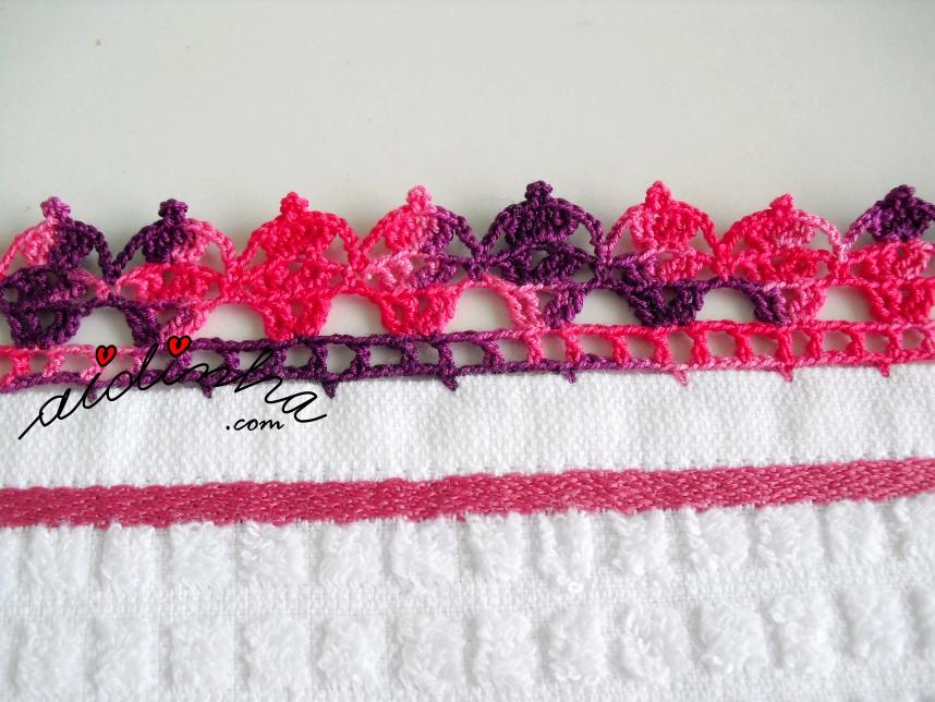 crochet do pano de cozinha branco