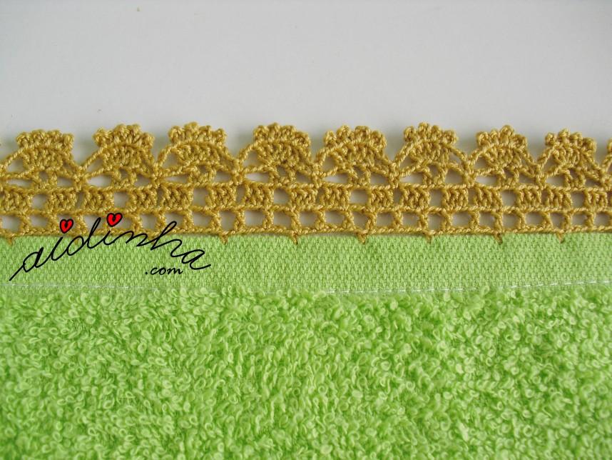 crochet do pano de cozinha verde