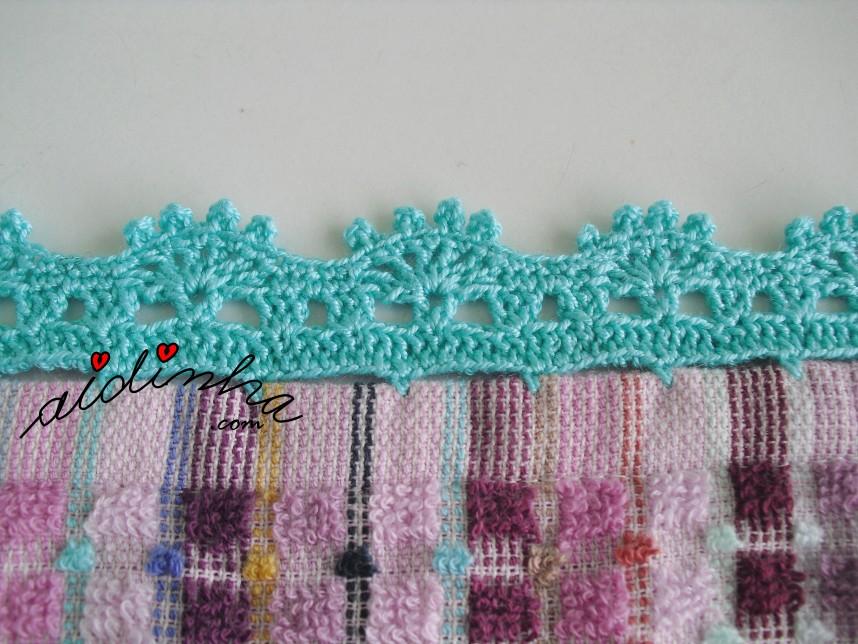 crochet do pano de cozinha colorido