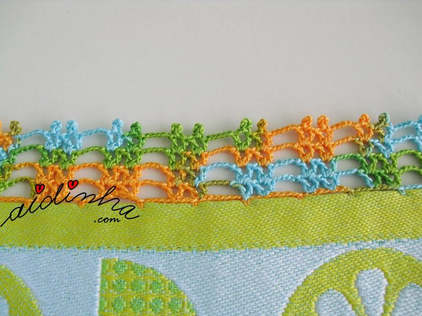crochet do pano tuco de cozinha turquesa