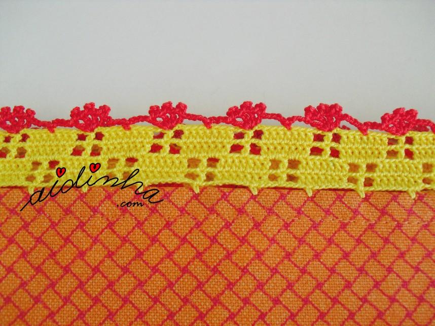 crochet da toalha do conjunto de toalha + pano de cozinha
